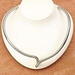 ダイヤモンド チタンチョーカー ネックレス