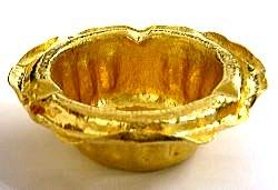 純金灰皿 ハンドメイド オリジナル 鍛金 彫金