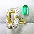 外したエメラルド ゴールド ダイヤモンド 修理